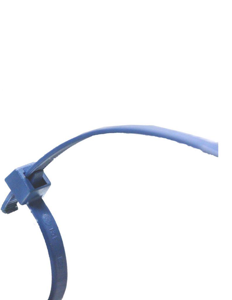 P-08033 fascette riapribili blu rilevabili al metal detector